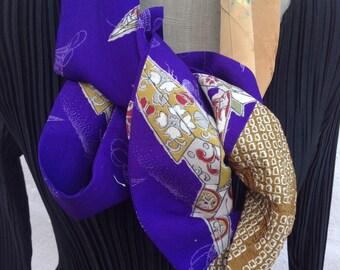 Brilliant kimono silk infinity scarf FREE SHIPPING