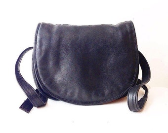 SUPER SOFT Black Leather CROSSBODY Purse