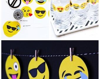 COMBO PACK: Emoji Fun - Instant Download Decor