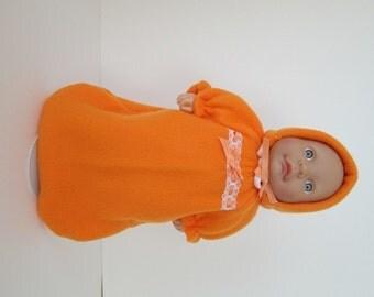 "10-12"" Orange Bunting and Hood Set"