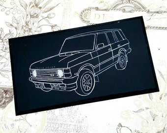 Range Rover Classic Illustration Classic Car Wooden Hanging Sign Plaque Hand Painted RRC Gift