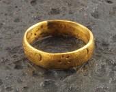 Ancient Viking Sailors Navigational Ring  Sun, Moon and Stars C.866-1067 A.D. Size 10  (19.5mm)