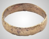 Authentic Ancient Viking Wedding Band Jewelry C.866-1067A.D. Size 11 3/4  (20.9mm)(Brr47) Vikking Ring