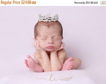 SALE 25% OFF - Rhinestone Baby Crown for newborn or maternity, baby crown, tiara, Austrian Crystals, photographer, newborn bebe by Lil Miss