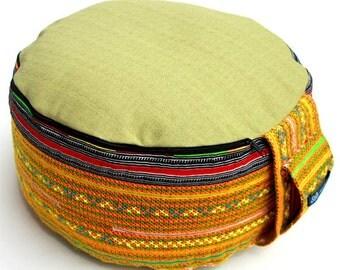 Unique Brandt Design Handmade Unique Cushion Yoga Meditation - Original Zafu Pouf Filled with Organic Spelt Grain
