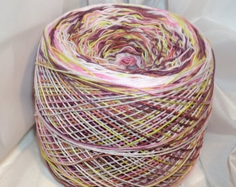 Crochet Cotton - Hand Dyed - Size 10 - Bon-Bon II - Sample Size - 10, 25 or 50 Yards
