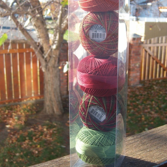 Lizbeth Tatting Thread - 5 Fall Colors - Your Choice of Length - Size 20 (#694, 684, 673, 181, 136)