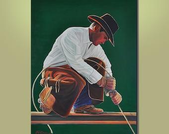 Original Large 36x48 Rare Modern Western Acrylic Painting by Tom Gress