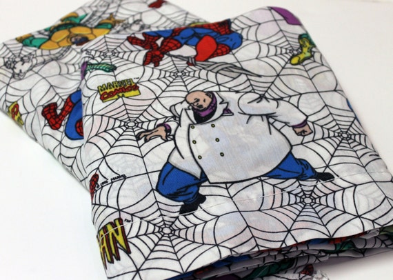 Vintage Marvel Comics Spider-man Bed Sheet SET