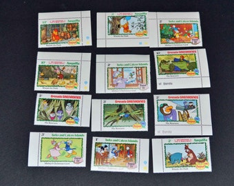 25 Mint Cartoon stamps from around the world