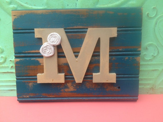 Rustic letter m sign wooden letter m hanger gallery wall for Letter m home decor