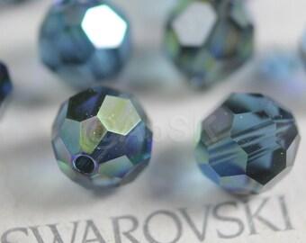 Promotion Item - 100pcs Swarovski Elements 5000 5mm Crystal Round Beads - MONTANA AB (While Stocks Last)