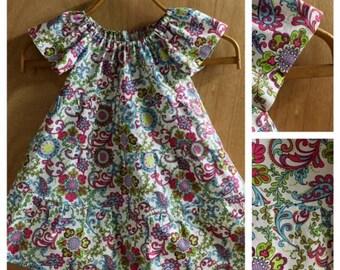 Hippie/Boho Cotton Peasant Dress, size 3t