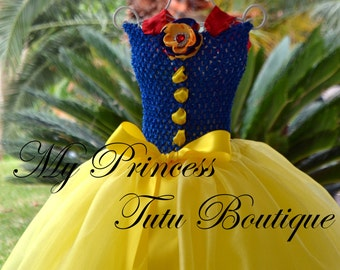 Snow White Princess Tutu Dress Snow White Tutus Halloween Tutus Snow White Girls Tutus