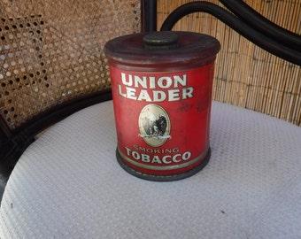 Union Leader Smoking Tobacco Tin