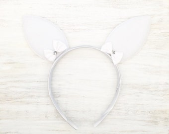 Soft white bunny ears Kawaii