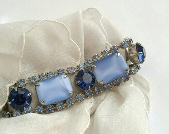 Incredible Vintage rhinestone tennis bracelet