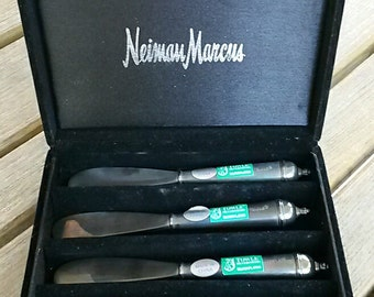 "Vintage TOWLE Silverplated 5.5"" Butter Knives SIGNED Set of (4) from Neiman Marcus"