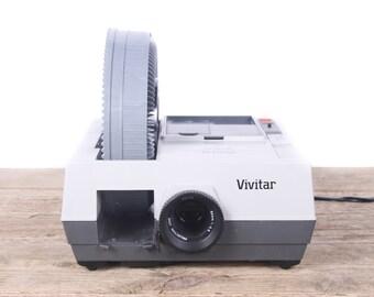 Vintage Slide Projector / Working Vivitar 3000AF Slide Projector / Antique Slide Projector in Box / Lens Bulb / Antique Projector
