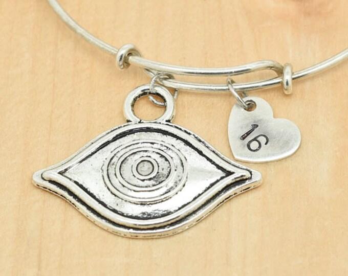Hamsa Bangle, Hand Bangle, Charm Bangle, Bridesmaid Gift, Hamsa Jewelry, Hamsa Charm, Evil Eye Bangle, Bangle Bracelet, Evil Eye Bracelet