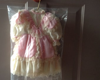 "Doll Dress Beautiful Pristine Handmade With Bloomers 22"" Doll"