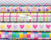 Sweet Remix Bundle from Robert Kaufman's Remix Collection by Ann Kelle (7 Fabrics Total)