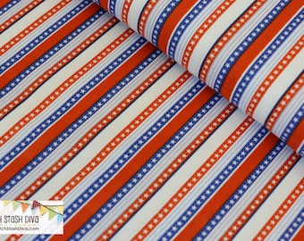 Red and White Star Stripes by Windham Fabrics