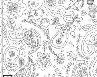 Color Me Princess Paisley from Michael Miller's Color Me Fabric Collection