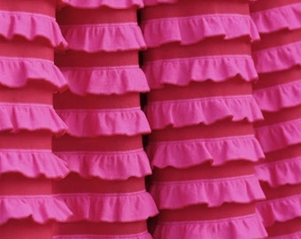 Pink/Red Ruffle KNIT 1/2 yd Cut