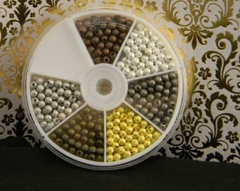Box of Mixed Metals 4mm Stardust Finish Spacer Beads