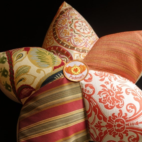 Full Lotus Large Meditation Pillow in Fire Tones