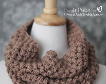 Crochet Pattern - Crochet Cowl Pattern - Cowl Crochet Pattern - Crochet Scarf - Puff Stitch Cowl - Toddler, Child, Adult Sizes - PDF 435