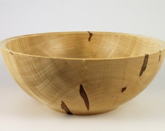 Wooden Salad Bowl Handmade from Ambrosia Maple the Perfect Gift or Holiday Centerpiece!