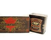 American Can Company - 1906 - Atlantic City - Two Metal Tins - Souvenir - Mustard Tin - Storage Box