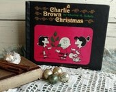 Vintage Charlie Brown Christmas Book from 1965 - First Printing of Charlie Brown Christmas, Mid Century Christmas Book, Charles Shultz Book
