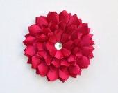Wall Flower, Hot Pink, Fuchsia Satin Wall Art, Wall Hanging, Wall Art, 3D Flower Art, Wall Decor