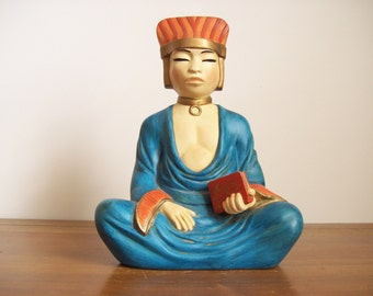 Vintage Ceramic Buddha Statue