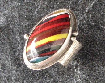 Surfite Ring Mulitcolor Statement Jewelry Size 8
