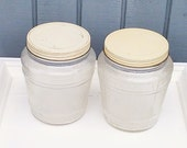 Antique Ball Canister Jars - Set of 2 Ball Canisters