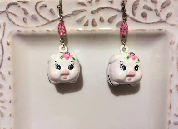 RESERVED LISTING...Piggy Earrings for Lucy Garcia