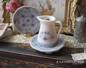 Blue Royal Jug for Dollhouse for Dollhouse Miniature 1:12 Scale