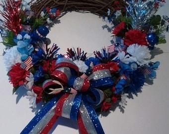 Grapevine Wreath Patriotic