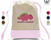 Dinosaur Backpack - Girl Personalized Backpack - Printed Dinosaur Bag - Summer Camp Bag - Daycare Bag - Preschool Backpack