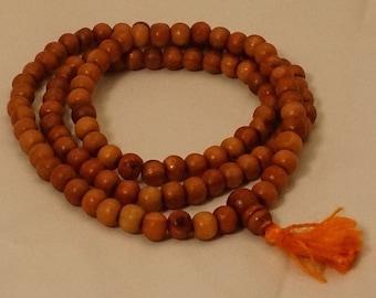 Sandalwood Mala / Meditation Mala / Prayer Beads Mala / Natural Sandalwood Mala / Japa Mala / Yoga Jewelry