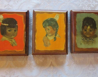 Audrey Young Oppel Decoupage Native American Children