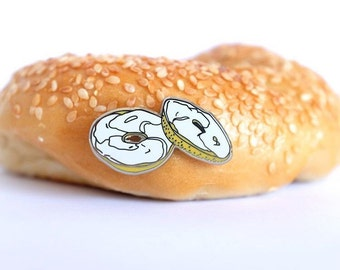 Bagel With Cream Cheese lapel pin accessory
