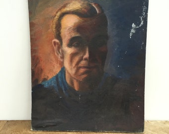 Vintage painting - Gentlemas portrait