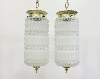 Swag / Pendant Lamps, Hollywood Regency / Mid Century Vintage Lighting