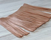 Genuine Leather Fringes, Rose Gold Genuine Leather