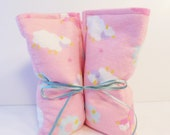 Microwave Heating Pad Hot or Cold Rice Bag Reusable Heat Wrap Pink Sheep Print Flannel Wrap